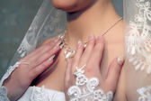 Necklace on a bride — Stock Photo
