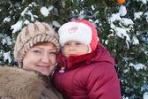 Madre con piccola ragazza — Foto Stock