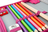 Pencil-case isolated on white — Stock Photo