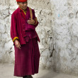monk in ladakh — Stock Photo