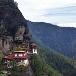 Постер, плакат: Taktshang Goemba Tigers Nest Monastery Bhutan in a mountain c