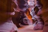 Sun light through Upper Antelope Canyon — Stock Photo