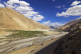 Way To Nubra Valley Ladakh, India — Stock Photo
