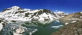 Suraj bellissimo lago tal in leh manali highway — Foto Stock