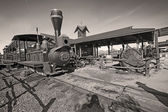 Old Train in Gold Field Ghost Town — Foto de Stock