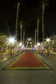 LOS ANGELES DECEMBER24th: Universal Studios with full of lighs D — Stock Photo