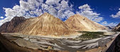 Panoramic View of Nubra Valley — Stock Photo