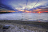 Colorful Sunset at Michigan Lake — Stock Photo