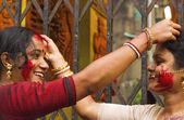 Sindur Khala Durga Puja 2011 in kolkata — Stockfoto