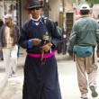 modern monk in leh — Stock Photo