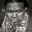 Face of Indian tribesq — Stock Photo