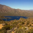 Stock Photo: Panoramic view of Apache Lake in Arizona