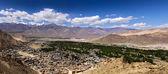 Vista di occhio d'uccello della città di leh, ladakh — Foto Stock