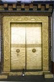 Porta no mosteiro em punakha, butão — Fotografia Stock