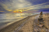 Sunset from Lake Erie — Stock Photo