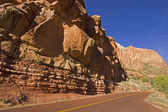 Roads in Zion National Park Utah, USA — Stock Photo