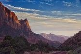 Zion national park utah usa zachód słońca — Zdjęcie stockowe