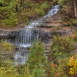 Beautiful Waterfalls in Fall Season of Michigan — Stock Photo #35285777