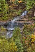 Beautiful Waterfalls in Fall Season of Michigan — Stock Photo