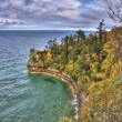 Pictured Rocks in Fall Colors of Upper Peninsula — Stock Photo