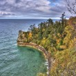 Stock Photo: Pictured Rocks in Fall Colors of Upper Peninsula