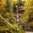 Beautiful Waterfalls in Fall Season of Michigan — Stock Photo #38269757