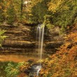Beautiful Waterfalls in Fall Season of Michigan — Stock Photo #38269773