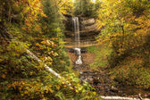 Beautiful Waterfalls in Fall Season of Michigan — Stock Photo