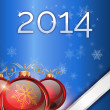 Christmas background 2014 — Stock Photo