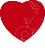Coeur rouge Saint-valentin — Stock Photo