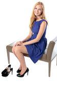 Fashionable graceful young woman — Stock Photo