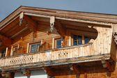 Wooden house balcony — Stock Photo