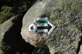 Trail signs in Karkonosze mountains — Stock Photo