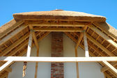 Straw roof — Stock Photo