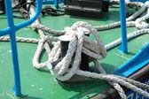 White ropes — Stok fotoğraf