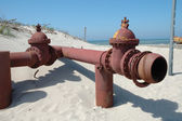 Old rusty pipe — Stock Photo