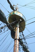Mast on sailing vessel — Stock Photo
