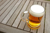 Beer mug on table — Photo