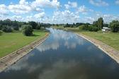 Warta river in Poznan — Stock Photo