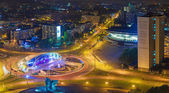 Gen. Zietek's roundabout in Katowice. — Stock Photo