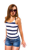Hot summer girl. — Stock Photo