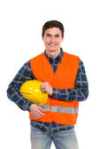 Engineer wearing reflective clothing. — Stock Photo