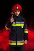 Fireman's safety notice — Stock Photo