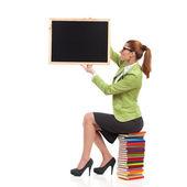 Nauczyciel z tablicy. — Zdjęcie stockowe