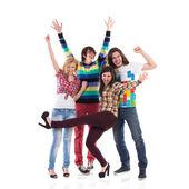 Mutlu grup öğrenci — Stok fotoğraf