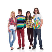 Group of a young happy people — Foto Stock