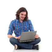 Chatting on-line — Stock Photo