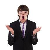 Shocked funny guy — Stock Photo