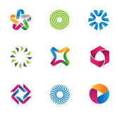 Cool and colorful social circle community loop logotype and icon symbol — Stok Vektör