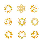 Vector set Luxury gold Calligraphic design elements and page decoration — ストックベクタ